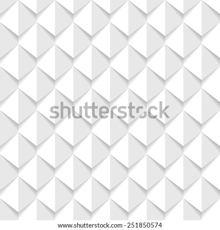 stock vector white d geometric seamless background 251850574 - Каталог — Фотообои «3D Текстуры»