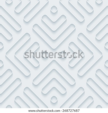 white 3d wallpaper halftone