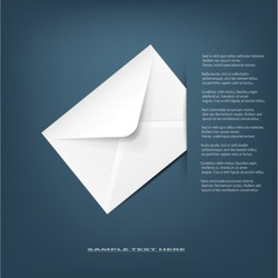 White detailed envelope.Vector illustration.