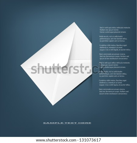 White detailed envelope.Vector illustration.