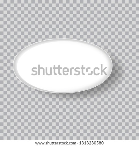 White dish, oval plate isolated on transparent background #1313230580