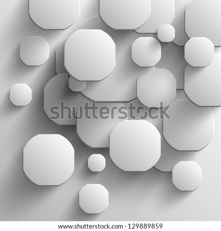 white disks with shadows