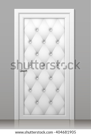 white door in the art deco