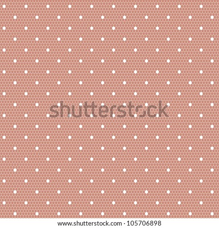 White dotted lace - stock vector