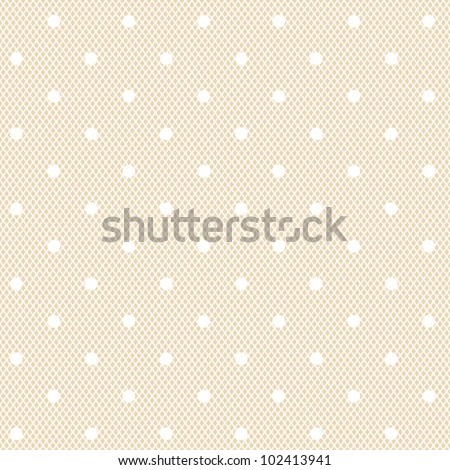 white dotted veil seamless pattern on fresh colour background - stock vector