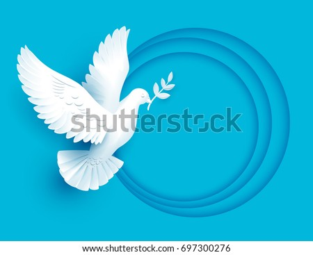 Dove Or Paloma Love Symbols Of Minimalist Style Vectors Download