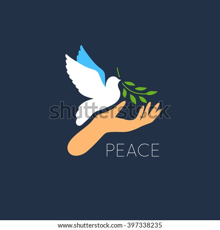 white dove vector icon with