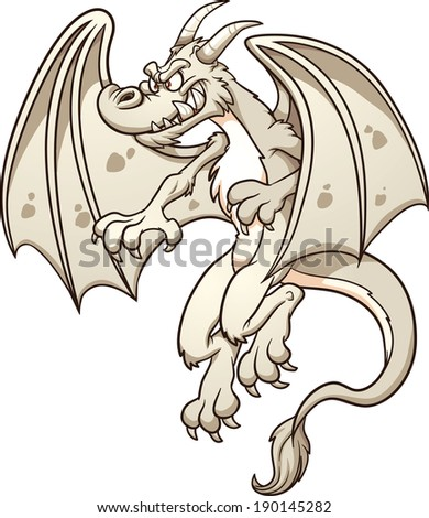 white dragon vector clip art