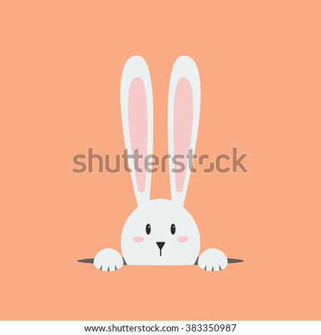 white easter rabbit easter