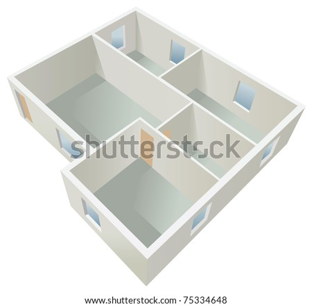 white empty flat planning vector