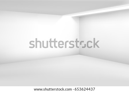white empty room 3d modern