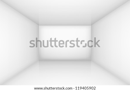 White empty room interior. illustration for design