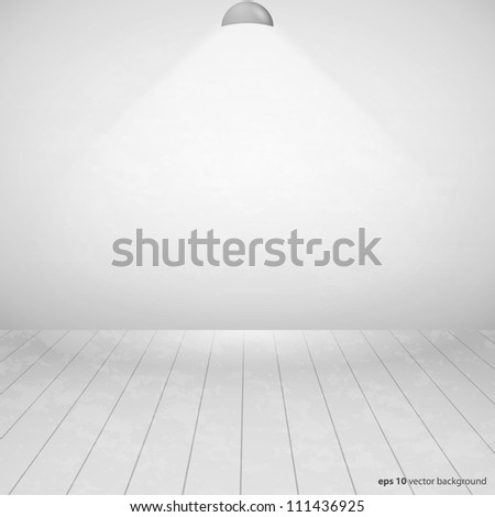 White Empty Room With Wall Light
