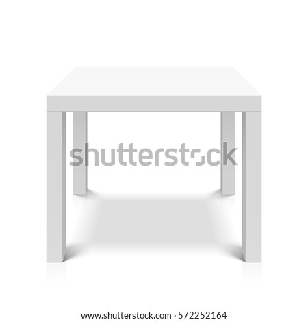white empty square table vector