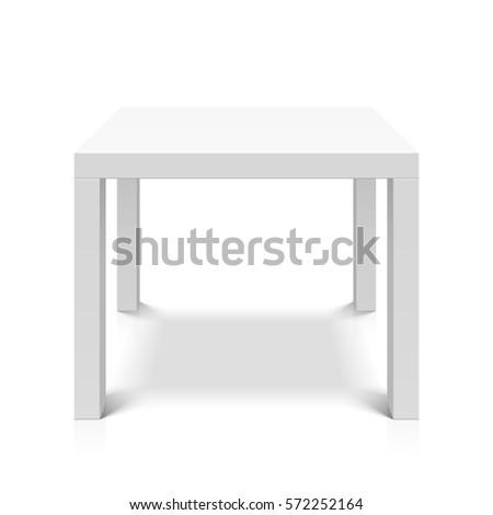 white empty square table vector