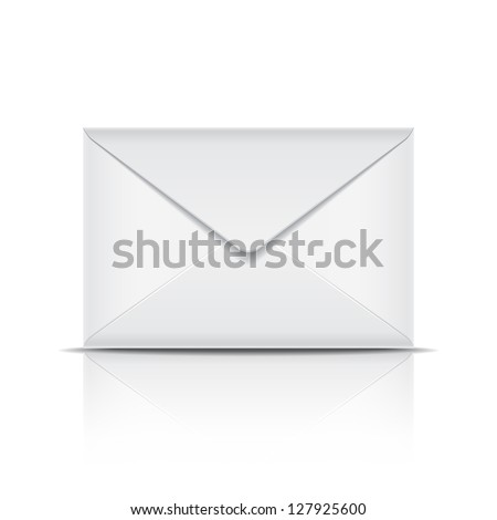 White envelope. Vector illustration