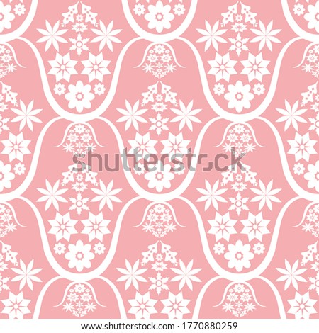 white ethnic simple floral
