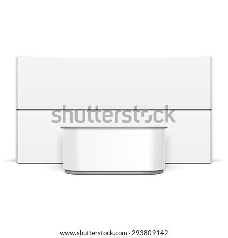 white exhibition stand pos poi