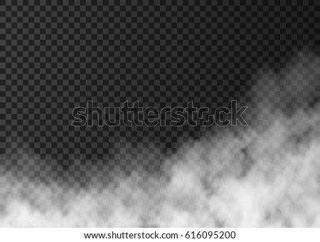 White  fire smoke  isolated on transparent background.  Steam special effect.  Realistic  vector  fog or mist texture .