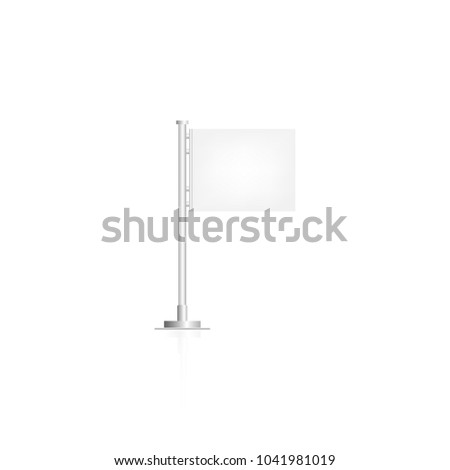 white flag on white background #1041981019