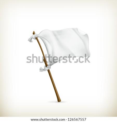 White flag, vector