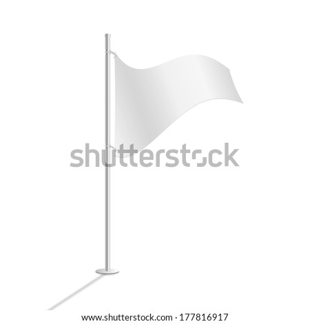 White flag vector illustration #177816917