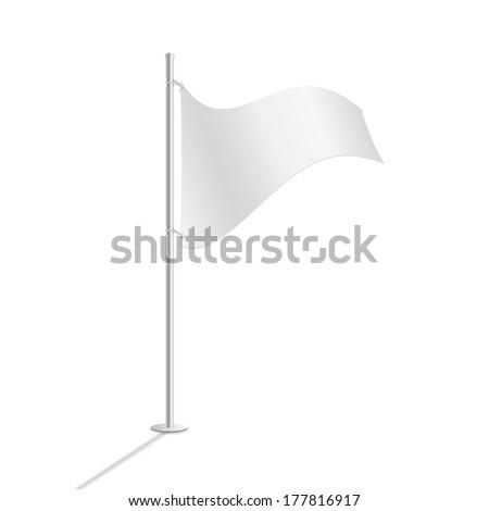 White flag vector illustration #177816917