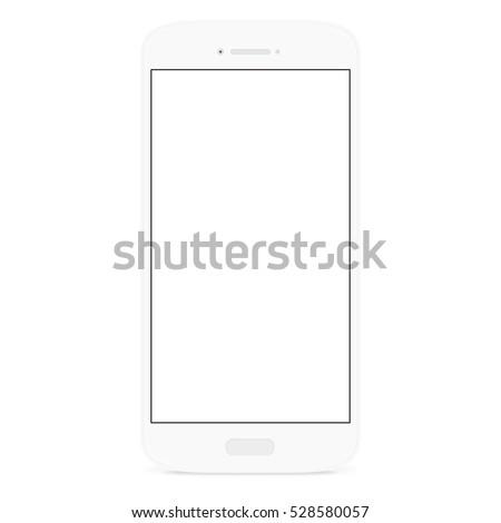 white flat phone white screen