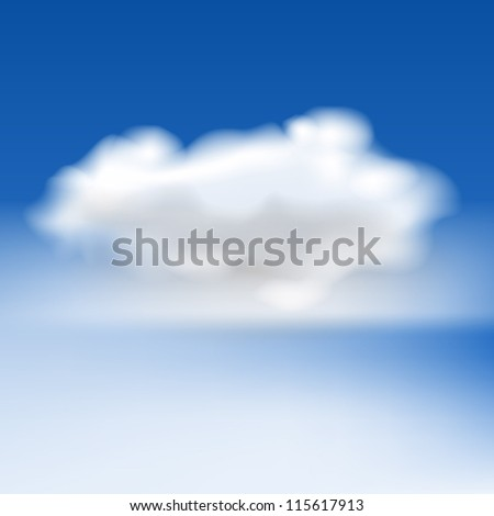 White fluffy cloud and fog, eps10 vector - stock vector