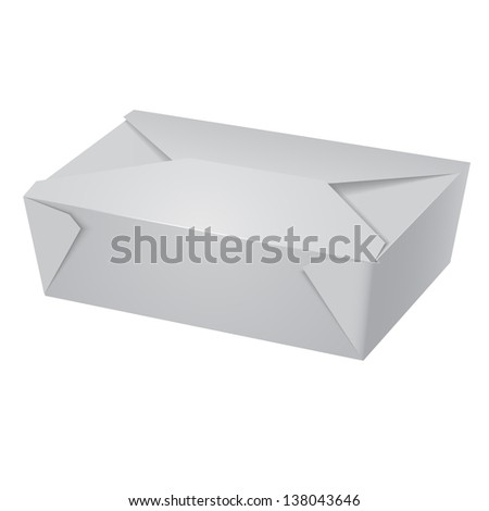 White Food box, fast food, candies box, paper box