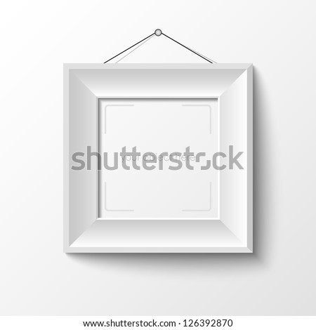 white frame for your photo or