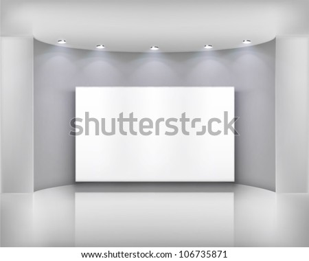 White frame.  Vector illustration.