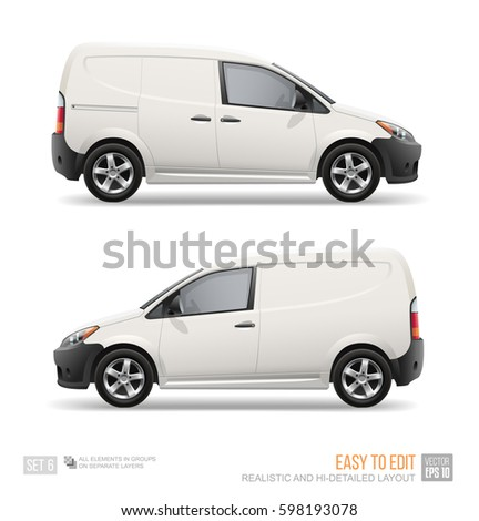 white freight car vector