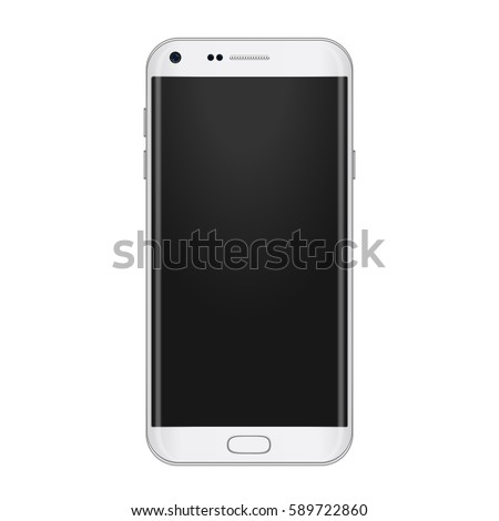 white gadget phone template