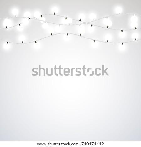 white garland style christmas