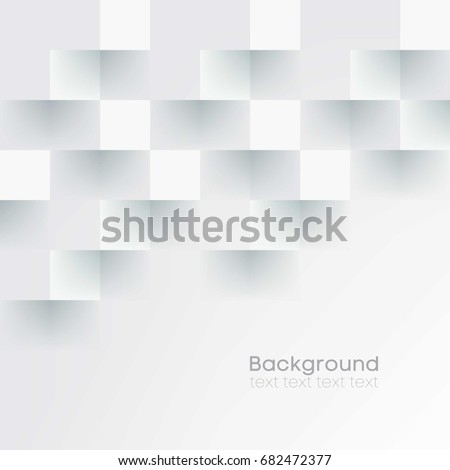 White geometric texture. Vector abstract background #682472377