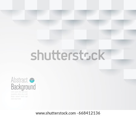 White geometric texture. Vector background can be used in cover design, book design, website background, CD cover, advertising. - Shutterstock ID 668412136