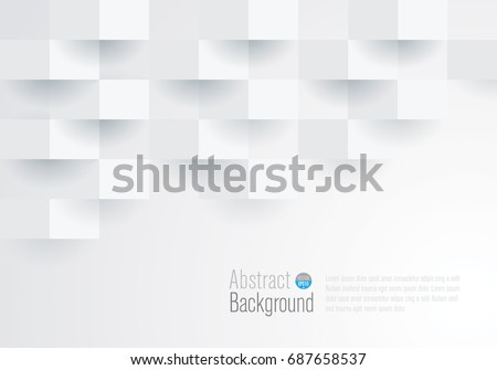 White geometric texture. Vector background can be used in cover design, book design, website background, CD cover, advertising, flyer. #687658537
