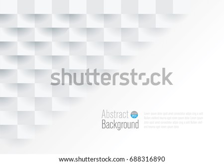 White geometric texture. Vector background can be used in cover design,  book design, website background, CD cover, advertising. #688316890