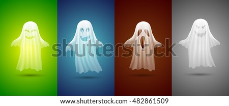 white ghosts for halloween on