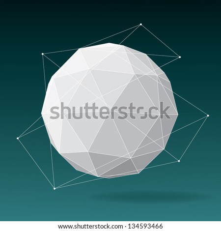 white globe geometric background