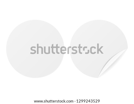 White glossy sale label tag - sticker with blank copy space. #1299243529