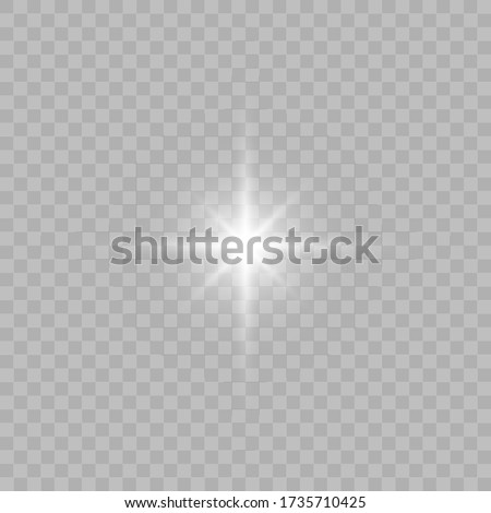 White glowing light burst explosion transparent. Vector illustration for cool effect decoration with ray sparkles. Bright star. Transparent shine gradient glitter, bright flare. Glare texture. EPS 10