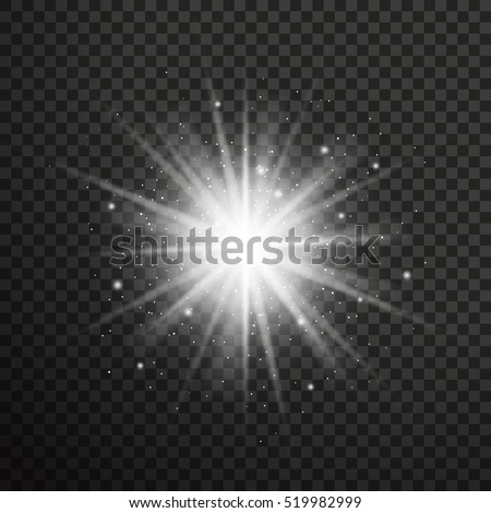 white glowing light burst