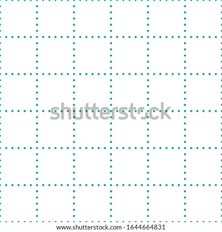 white graph paper with green