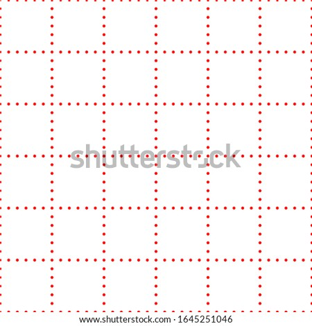 white graph paper with red dot