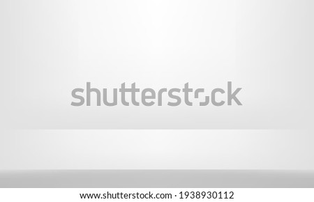 White Grey background. Minimal 3d shelf. Room in the 3d. For backdrop,wallpaper,background. Space for text. Vector illustration.