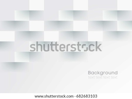 White grey geometric texture. Vector abstract background #682683103