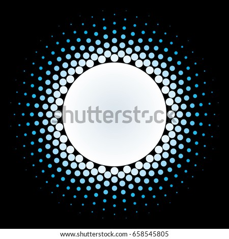 white halftone circle frame
