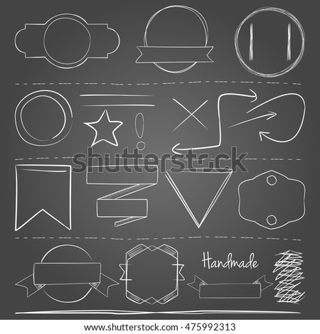 White Hand Drawn Vector Elements